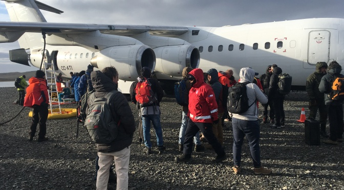 PROPOLAR Flight punta arenas-king george island in 13 february